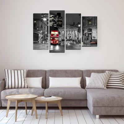 Модульные картины в интерьере: правила и секреты размещения - фото 17