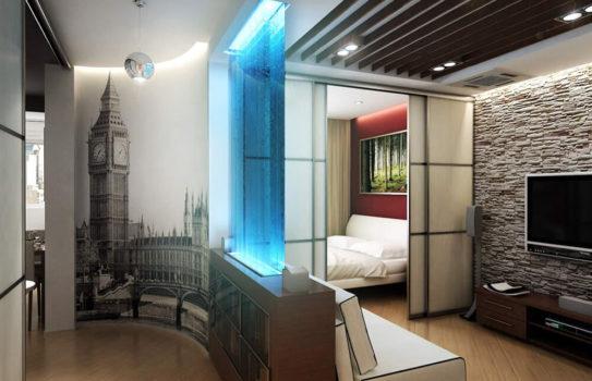 000 zonirovanie 33 543x350 - Декоративные перегородки для зонирования комнаты