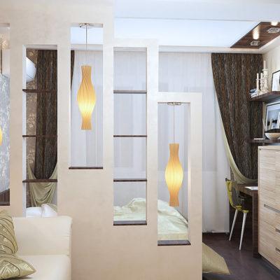 Декоративные перегородки для зонирования комнаты - фото 10