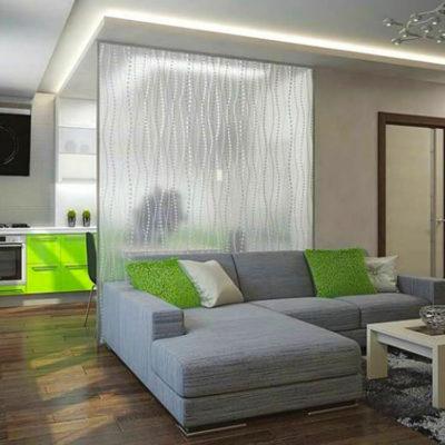 Декоративные перегородки для зонирования комнаты - фото 15