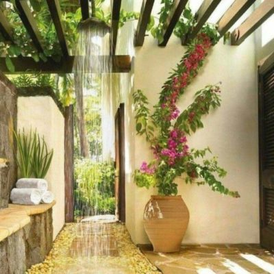 Как обустроить летний душ: советы и оригинальные идеи - фото 15