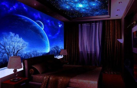 1 star sky in interior 543x350 - Звездное небо в интерьере: как добавить комнате волшебства