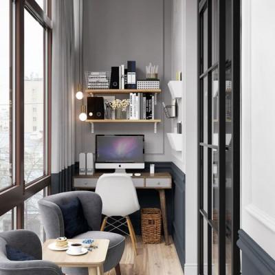 Рабочий кабинет с кофейным столиком для очень продуктивных бесед