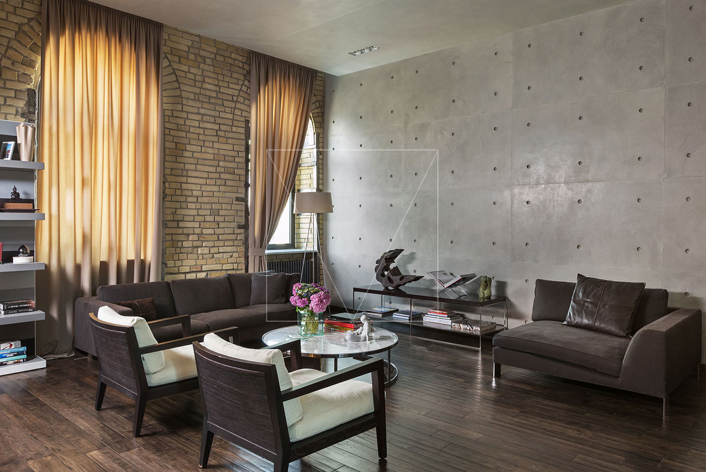 "662 slider5 - Дизайн интерьера трехкомнатной квартиры ""Подольский лофт"" by Sergey Makhno Architects"