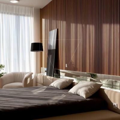 """Дизайн интерьера двухкомнатной квартиры """"Skyline минимализм"""" by Sergey Makhno Architects"""