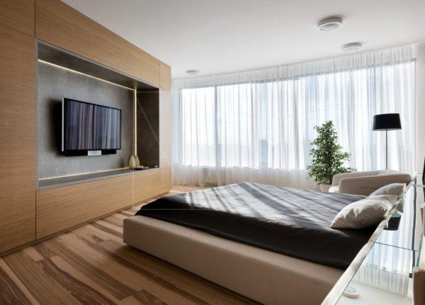 """Дизайн интерьера двухкомнатной квартиры """"Skyline минимализм"""" by Sergey Makhno Architects - фото 3"""