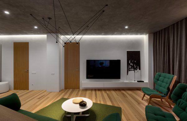 """Дизайн интерьера двухкомнатной квартиры """"Skyline минимализм"""" by Sergey Makhno Architects - фото 9"""