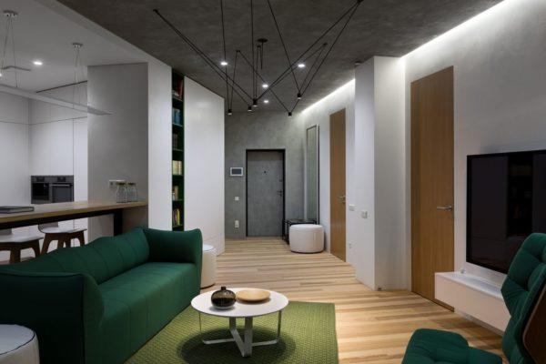 """Дизайн интерьера двухкомнатной квартиры """"Skyline минимализм"""" by Sergey Makhno Architects - фото 12"""