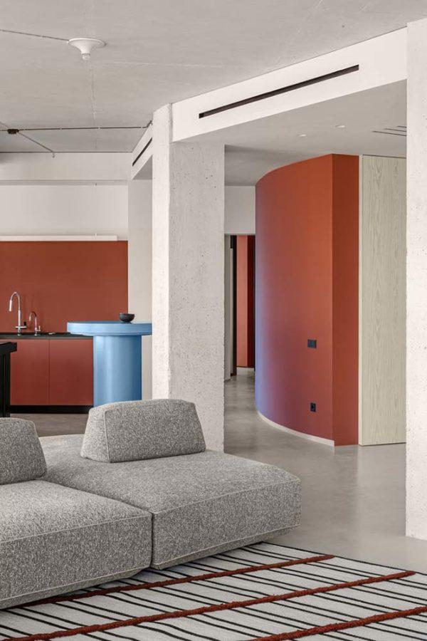 Дизайн интерьера апартаментов «Blue Terracotta» by Rina Lovko Studio - фото 4