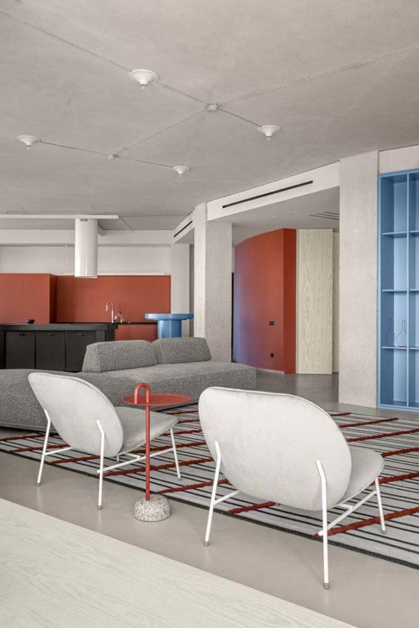 Дизайн интерьера апартаментов «Blue Terracotta» by Rina Lovko Studio - фото 5