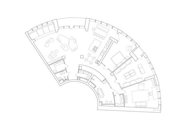 Дизайн интерьера апартаментов «Blue Terracotta» by Rina Lovko Studio - фото 41