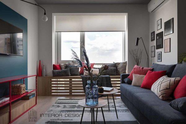 Дизайн интерьера 1-комн.кв. «BRIGHT MOOD» by DIHOME - фото 3
