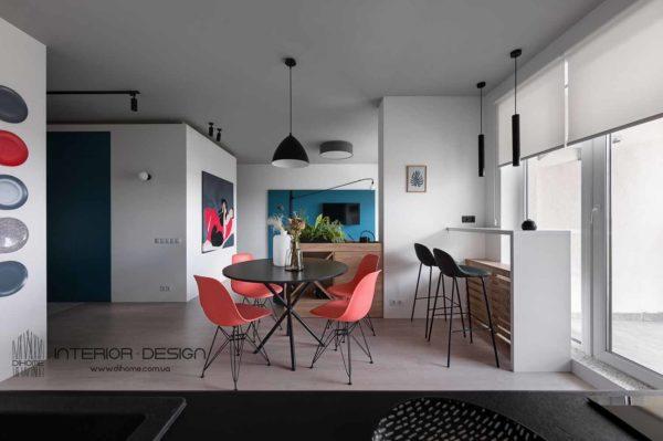 Дизайн интерьера 1-комн.кв. «BRIGHT MOOD» by DIHOME - фото 9