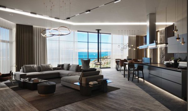 Дизайн интерьера однокомнатной квартиры «Модерн в ЖК Busov Hill» by NS INTERIOR DESIGN - фото 1