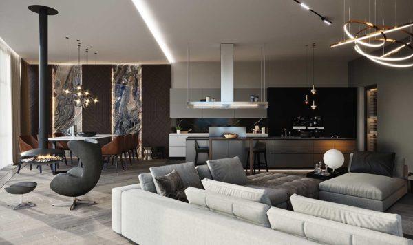 Дизайн интерьера однокомнатной квартиры «Модерн в ЖК Busov Hill» by NS INTERIOR DESIGN - фото 2