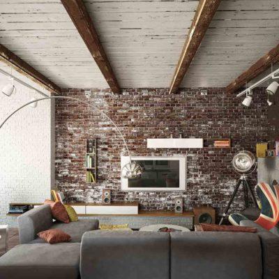 Декоративный кирпич в интерьере и идеи его кладки - фото 5
