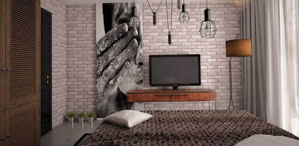 decorative brick in the interior 28 - Декоративный кирпич в интерьере и идеи его кладки