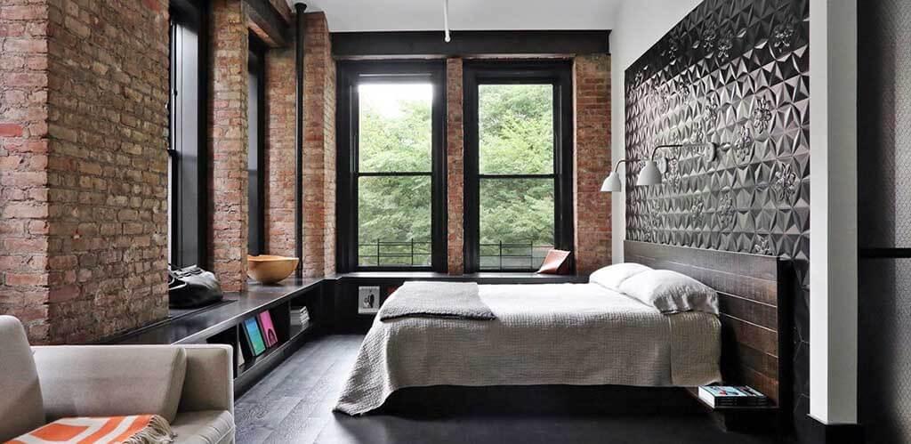 decorative brick in the interior 29 - Декоративный кирпич в интерьере и идеи его кладки