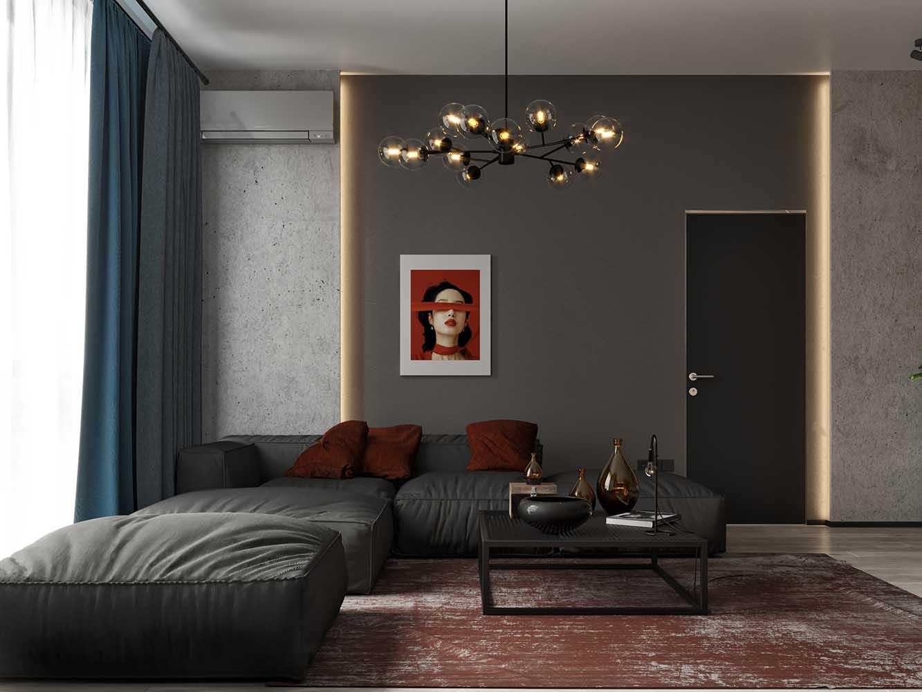 "design interera apartamenti v lipki by archevista design 01 - Дизайн интерьера апартаментов в ЖК ""Новопечерские Липки"" by ARCHEVISTA DESIGN"