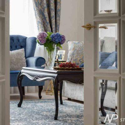 Дизайн интерьера двухкомнатной квартиры в классическом стиле by NP-Studio-Design