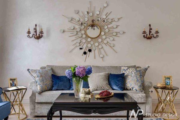 Дизайн интерьера двухкомнатной квартиры в классическом стиле by NP-Studio-Design - фото 2