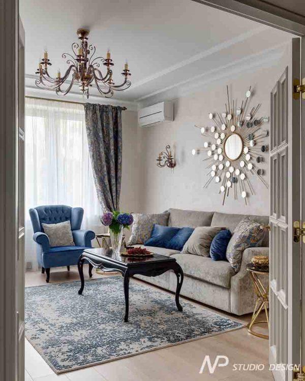 Дизайн интерьера двухкомнатной квартиры в классическом стиле by NP-Studio-Design - фото 3