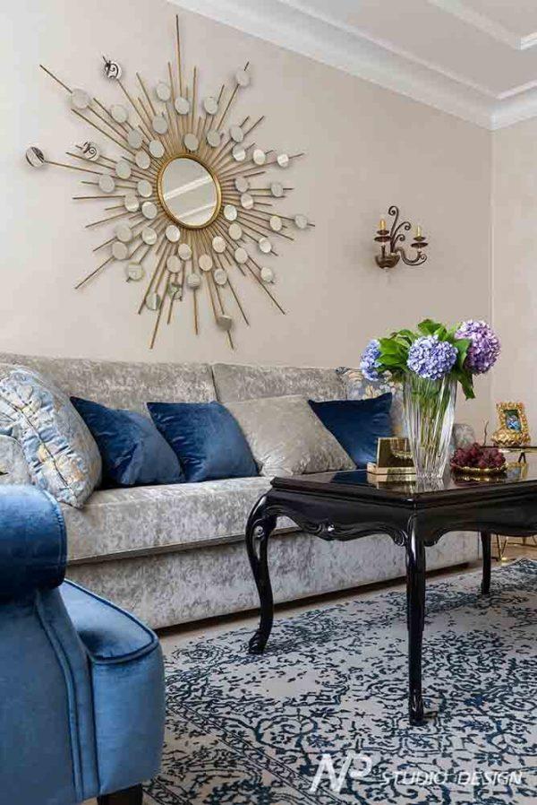 Дизайн интерьера двухкомнатной квартиры в классическом стиле by NP-Studio-Design - фото 4