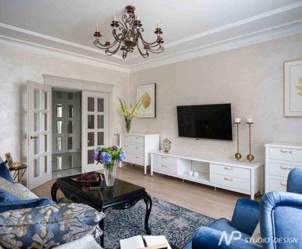 Дизайн интерьера двухкомнатной квартиры в классическом стиле by NP-Studio-Design - фото 8