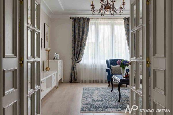 Дизайн интерьера двухкомнатной квартиры в классическом стиле by NP-Studio-Design - фото 9