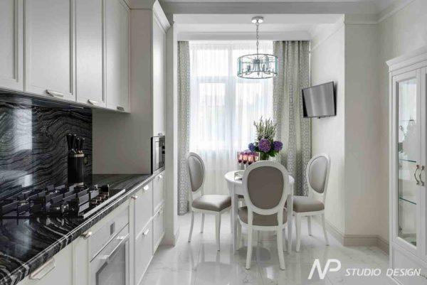 Дизайн интерьера двухкомнатной квартиры в классическом стиле by NP-Studio-Design - фото 19
