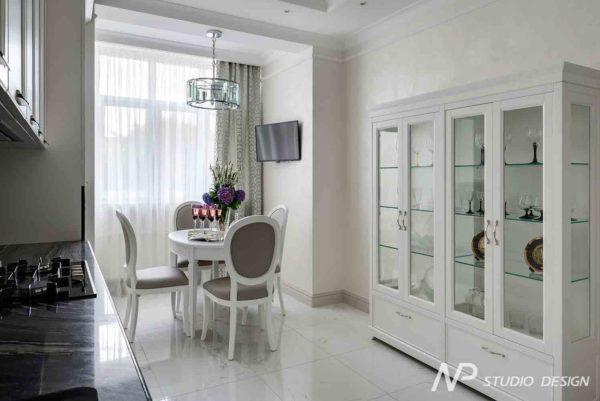Дизайн интерьера двухкомнатной квартиры в классическом стиле by NP-Studio-Design - фото 20