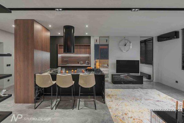 """Дизайн интерьера однокомнатной квартиры """"Контраст в самом центре города"""" by NP Studio Design - фото 2"""