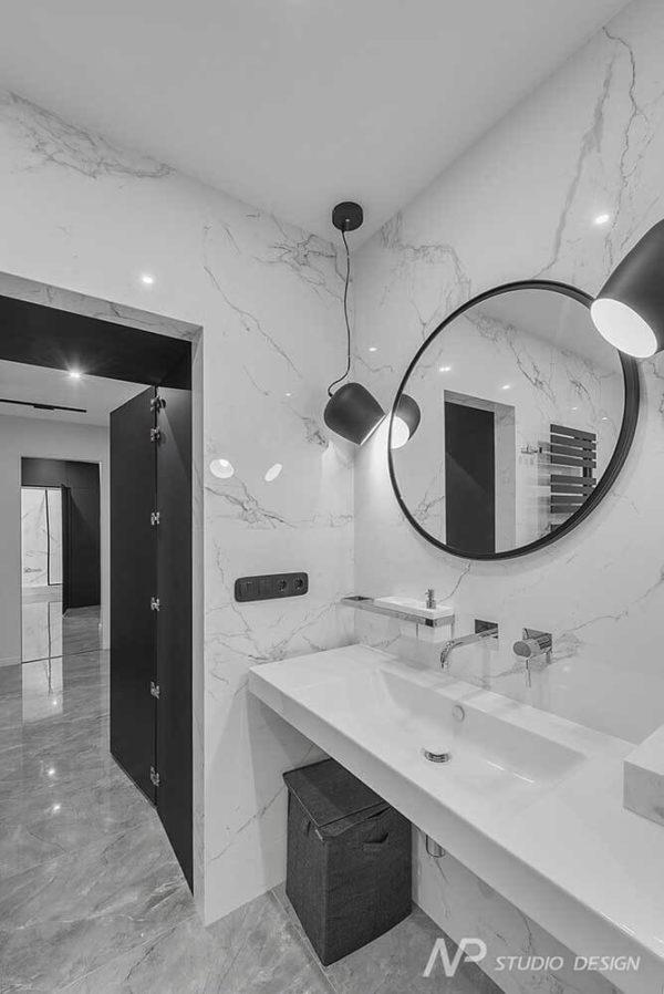 """Дизайн интерьера однокомнатной квартиры """"Контраст в самом центре города"""" by NP Studio Design - фото 14"""