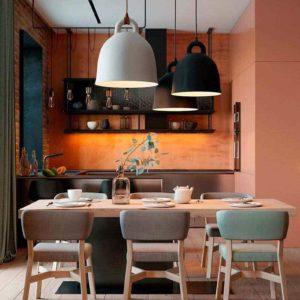 """Дизайн интерьера трехкомнатной квартиры эклектика: классика + лофт """"Patrick"""" by ZOOI"""
