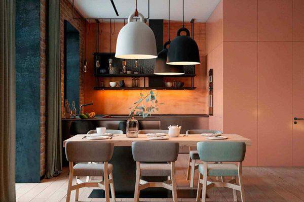 """Дизайн интерьера трехкомнатной квартиры эклектика: классика + лофт """"Patrick"""" by ZOOI - фото 1"""