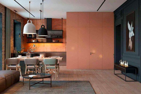 """Дизайн интерьера трехкомнатной квартиры эклектика: классика + лофт """"Patrick"""" by ZOOI - фото 3"""
