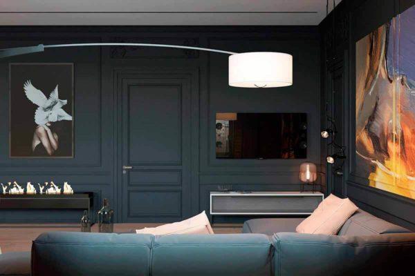 """Дизайн интерьера трехкомнатной квартиры эклектика: классика + лофт """"Patrick"""" by ZOOI - фото 7"""