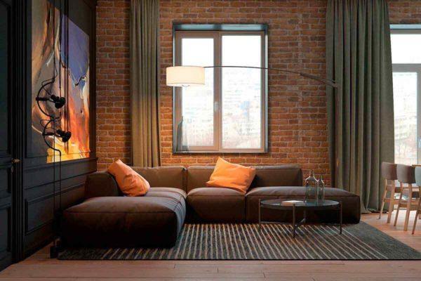 """Дизайн интерьера трехкомнатной квартиры эклектика: классика + лофт """"Patrick"""" by ZOOI - фото 8"""