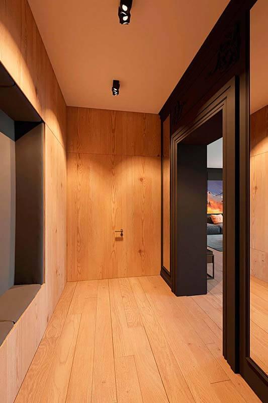 """Дизайн интерьера трехкомнатной квартиры эклектика: классика + лофт """"Patrick"""" by ZOOI - фото 9"""
