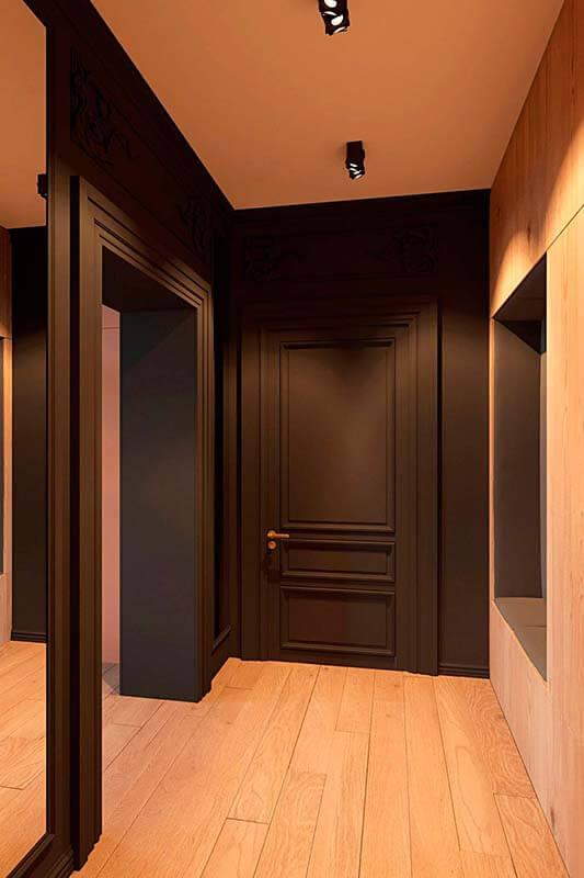 """Дизайн интерьера трехкомнатной квартиры эклектика: классика + лофт """"Patrick"""" by ZOOI - фото 10"""