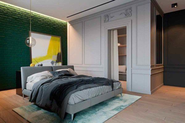"""Дизайн интерьера трехкомнатной квартиры эклектика: классика + лофт """"Patrick"""" by ZOOI - фото 15"""