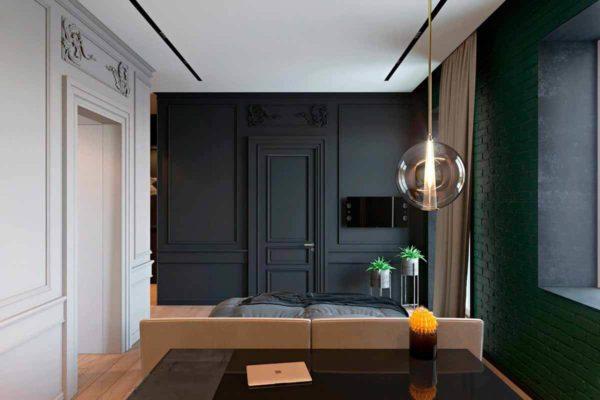 """Дизайн интерьера трехкомнатной квартиры эклектика: классика + лофт """"Patrick"""" by ZOOI - фото 17"""