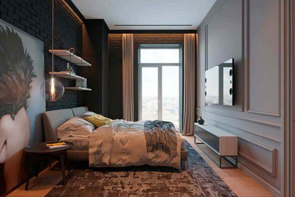 """Дизайн интерьера трехкомнатной квартиры эклектика: классика + лофт """"Patrick"""" by ZOOI - фото 22"""