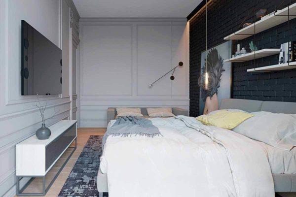 """Дизайн интерьера трехкомнатной квартиры эклектика: классика + лофт """"Patrick"""" by ZOOI - фото 23"""