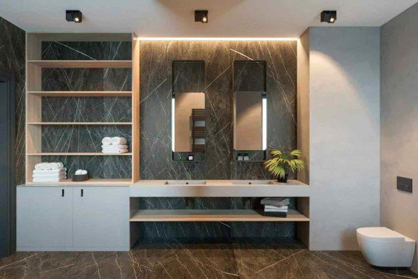 """Дизайн интерьера трехкомнатной квартиры эклектика: классика + лофт """"Patrick"""" by ZOOI - фото 24"""