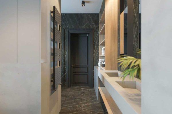 """Дизайн интерьера трехкомнатной квартиры эклектика: классика + лофт """"Patrick"""" by ZOOI - фото 26"""