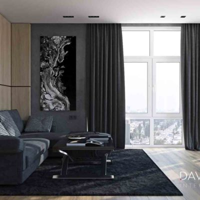 "Дизайн интерьера трехкомнатной квартиры ""Темное дерево"" by Davidovich"