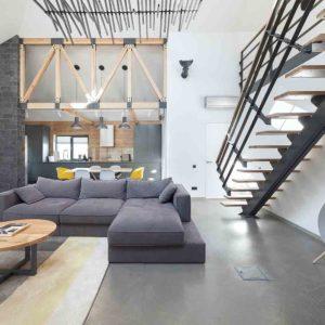 Реконструкция и дизайн интерьера дома в минималистическом стиле by TSEH