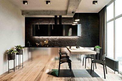 "Дизайн интерьера двухкомнатной квартиры в стиле лофт ""Cactus"" by ZOOI - фото 1"
