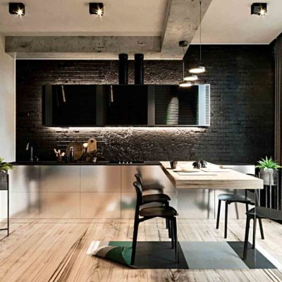 "Дизайн интерьера двухкомнатной квартиры в стиле лофт ""Cactus"" by ZOOI"